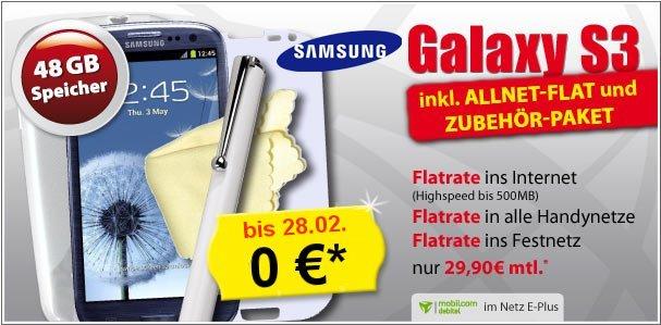 Kostenloses Galaxy S3 bei Handygott.de