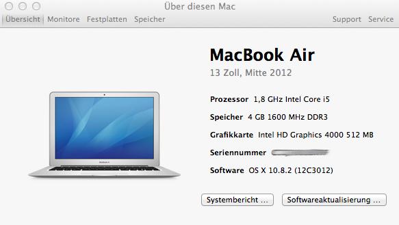Mac Seriennummer